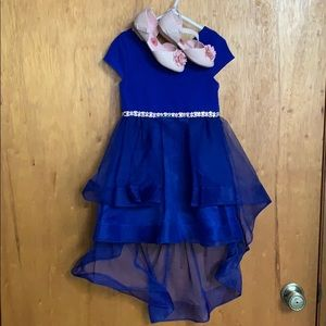 Gorgeous blue hi lo party dress toddler sz 4